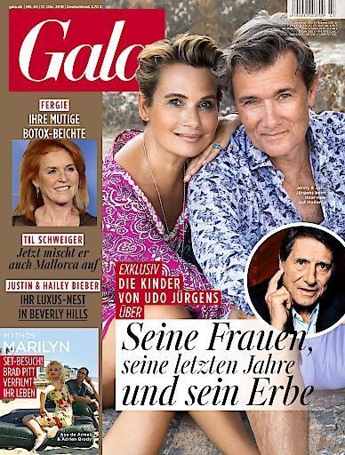 """GALA Cover 43/2019 (EVT: 17. Oktober 2019) / Weiterer Text über ots und www.presseportal.de/nr/6106 / Die Verwendung dieses Bildes ist für redaktionelle Zwecke honorarfrei. Veröffentlichung bitte unter Quellenangabe: """"obs/Gruner+Jahr, Gala"""""""
