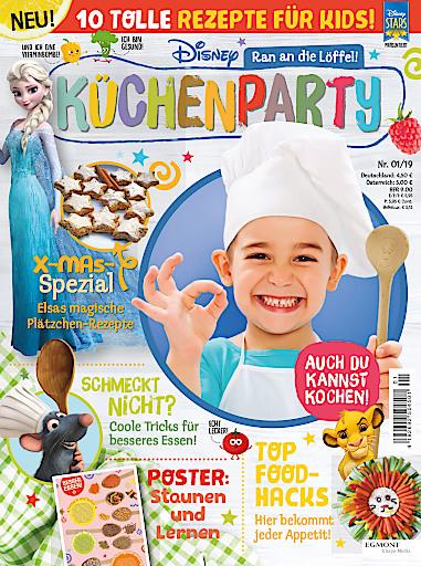 """Cover der ersten Ausgabe zu Disney Küchenparty. Weiterer Text über ots und www.presseportal.de/nr/8146 / Die Verwendung dieses Bildes ist für redaktionelle Zwecke honorarfrei. Veröffentlichung bitte unter Quellenangabe: """"obs/Egmont Ehapa Media GmbH/Egmont Ehapa Media / Disney"""""""