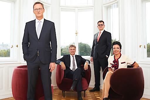 Die Partner bei ARTUS Wolfgang Schmid, Wolfgang Dibiasi, Tomislav Stipic und Eva Pernt (v.l.n.r.)