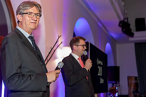 ARTUS-Partner-Staffelübergabe von Schwab an Stipic Gerhard Schwab und Tomislav Stipic (v.l.n.r.)