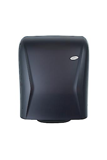 XIBU TOWEL hybrid heißt dieser Papierhandtuch-Spender, Hagleitner Hygiene sieht ihn als Stammvater einer neuen Geräte-Familie. Jedes ihrer Mitglieder sendet Daten direkt ans Smartphone – und das Smartphone spielt sie weiter in die Cloud.