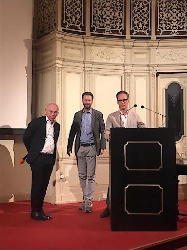 v.l.n.r. Prof. Dr. Peter Marhofer, Prim. Dr. Manfred Greher, MBA und Prim. Priv. Doz. Dr. Gerhard Fritsch