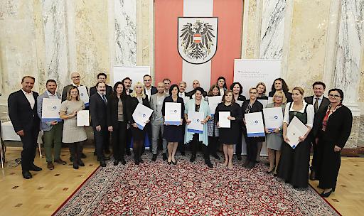 Verleihung des Österreichischen Qualitätszertifikats für Vermittlungsagenturen in der 24-Stunden-Betreuung - ÖQZ-24