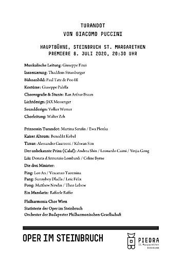 Turandot von Giacomo Puccini im Steinbruch St. Margarethen