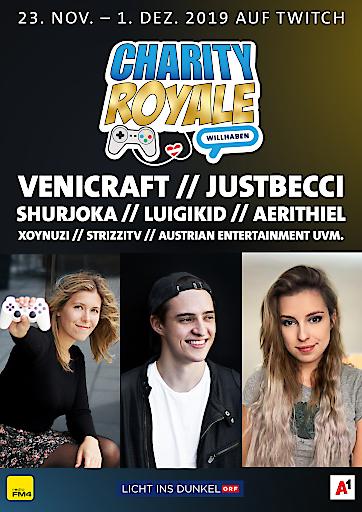 Charity Royale: Gaming-Szene & willhaben streamen erneut für guten Zweck