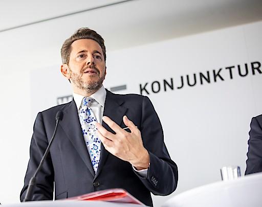 Pressekonferenz zum Konjunkturgipfel der Wirtschaftskammer: WKÖ-Präsident Harald Mahrer.
