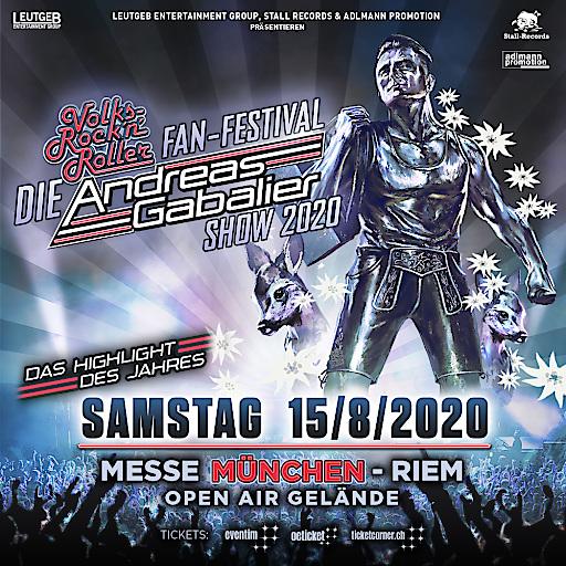 """""""DIE"""" ANDREAS GABALIER SHOW 2020- Das Volks-Rock'n'Roller Fan-Festival"""