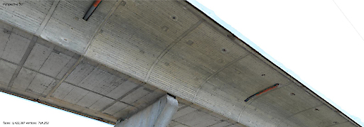 Aus den präzisen Bildern der Drohne entsteht ein 3D-Brückenmodell - Digitaler Zwilling