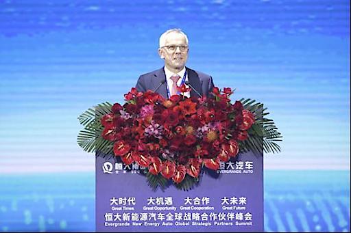 Stefan Pischinger, Vorstandsvorsitzender der FEV Europe GmbH, hielt am 12. November eine Rede auf dem Gipfel.