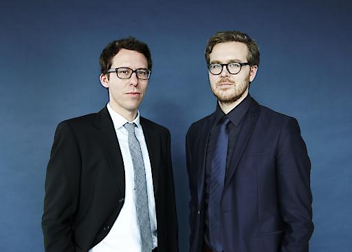 Im Bild v.l.r.r.: Bastian Obermayer und Frederik Obermaier