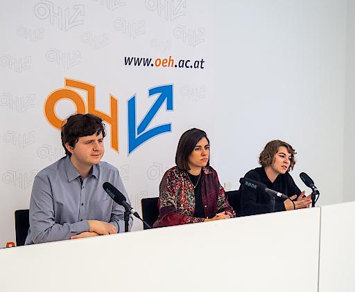 v.l.n.r.: Desmond Grossmann, Adrijana Novakovic und Dora Jandl