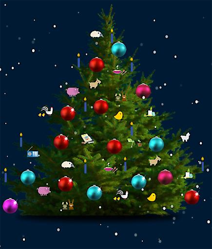 Per Mausklick kann über jede Christbaumkugel für eine Hilfsmaßnahme in Kindernothilfeprojekten gespendet werden.