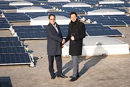 Energiewende auf dem Großmarktdach