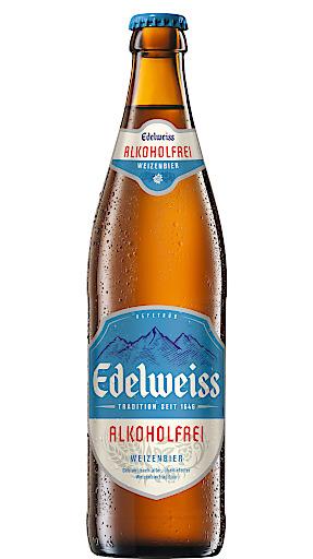 """In der Kategorie """"Non-alcoholic Hefeweizen top fermented"""" ging Silber an das Edelweiss Alkoholfrei."""