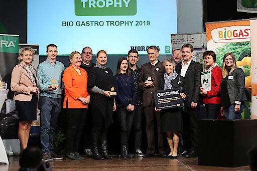 Gruppenbild mit allen Prämierten der BIO GASTRO TROPHY 2019