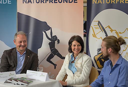 Pressegespräch mit Andreas Schieder und Gerlinde Kaltenbrunner zum Thema 125 Jahre Naturfreunde Österreich.