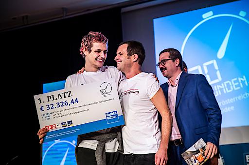 """Matthias und Elias Bohun holten sich mit """"traivelling"""" den 1. Platz"""