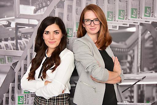 BILT zu OTS - Das neue Marketing-Team der bz: Leyla Tatlilioglu (links) und Marion Spangl