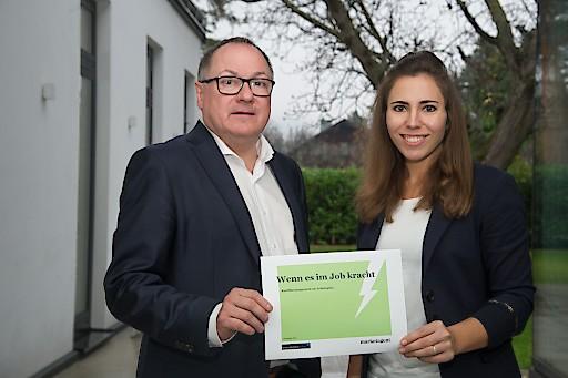 """Lisa Patek und Thomas Douschan zur Studie """"Wenn es im Job kracht"""""""