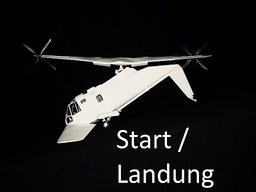 Start oder Landekonfiguration von DUAFLY