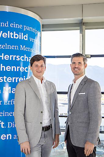 SN Geschäftsführer Maximilian Dasch mit Sebastian Gückelhorn. (v.l.)