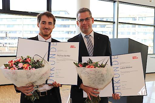 Die beiden Preisträger: links Thomas Senfer, rechts Lukas Möltner.