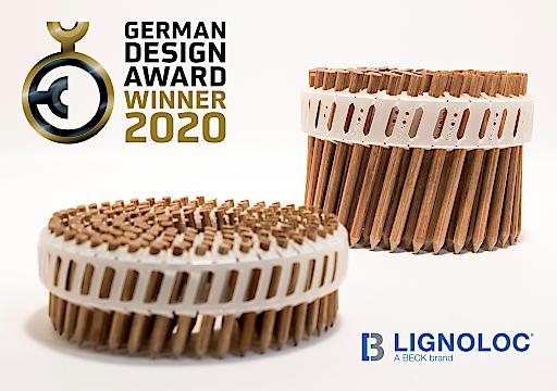 """LIGNOLOC® wurde als Winner 2020 in der Kategorie """"Excellent Product Design – Workshop and Tools"""" beim German Design Award ausgezeichnet."""