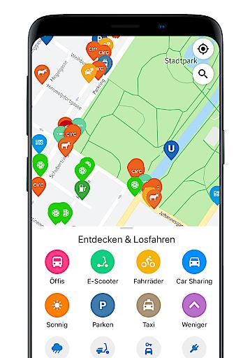 Alle Sharing Dienste bei wegfinder: Car-, Bike- und Scooter-Sharing auf einen Blick