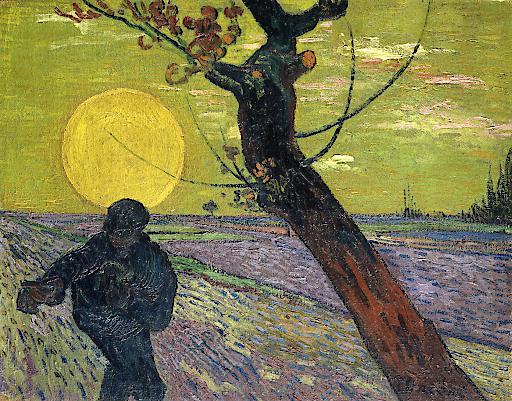 VINCENT VAN GOGH 1853–1890 Sämann bei Sonnenuntergang, 1888 Öl auf Leinwand 73,5 × 93 cm Sammlung Emil Bührle, Zürich, Foto: SIK-ISEA, Zürich (J.-P. Kuhn)