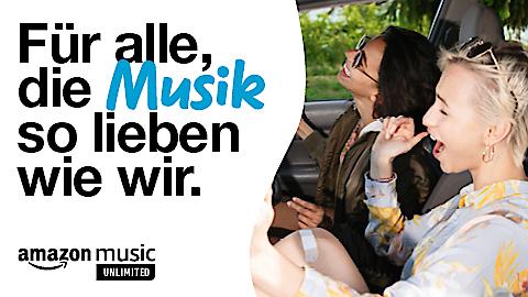 Amazon Music Unlimited by Drei: 50 Mio Songs werbefrei, 1 Monat gratis, ohne Datenverbrauch streamen.