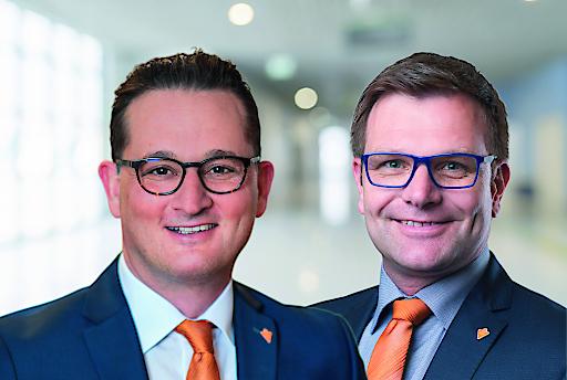 v.l.n.r.: Matthias Lindenhofer und Rainer Vogelmann übernehmen ab sofort die Geschäftsführung von wefox Austria.