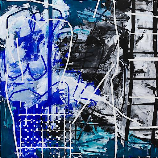 Heimo Zobernig Ohne Titel, 2012 Acryl, Leinwand / acrylic, canvas 200 x 200 cm Courtesy Galerie Meyer Kainer, Wien Photo: Archiv Heimo Zobernig