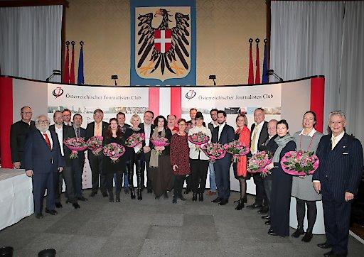 Dr. Karl Renner - Publizistikpreis 2019: Alle Preisträger, Nominierte und Laudatoren im Wappensaal des Wiener Rathauses