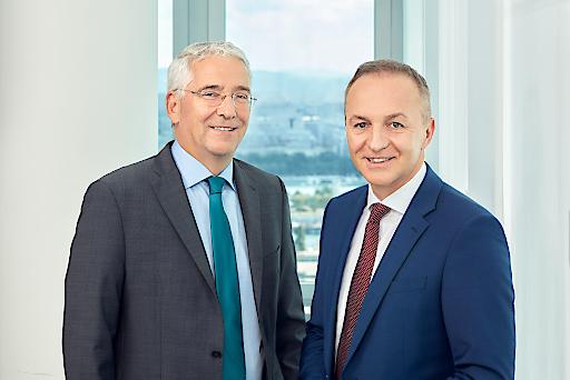 vlnr. Thomas Karall, kaufmännischer Vorstand APG & Gerhard Christiner, technischer Vorstand APG