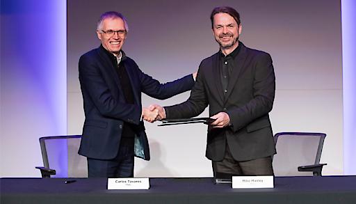 Groupe PSA und FCA vereinbaren Zusammenschluss. Im Bild: Carlos Tavares und Mike Manley