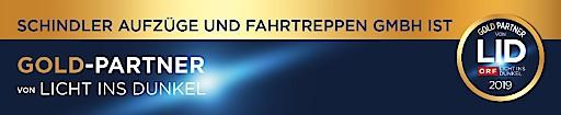 Schindler: Gold Partner von Licht ins Dunkel