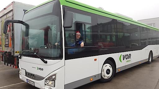 VOR-Busfahrer auch zu Weihnachten im Einsatz!