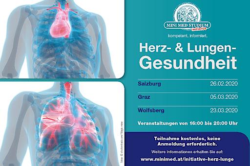 Gesammelte Informationen zur MINI MEDinitiative für Herz- und Lungen-Gesundheit. © RMA Gesundheit | Der Abdruck ist für Pressezwecke honorarfrei.