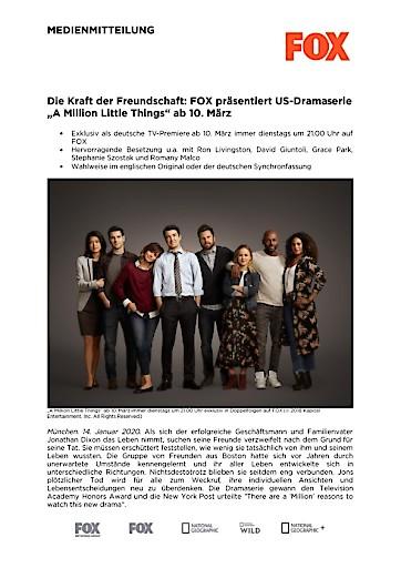 """Die Kraft der Freundschaft: FOX präsentiert US-Dramaserie """"A Million Little Things"""" ab 10. März (FOTO)"""