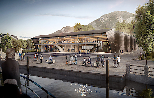 Visualisierung des Außenbereichs der neuen Talstation