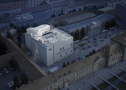MQ Libelle Rendering, MuseumsQuartier Wien