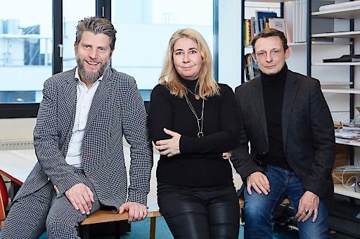 Das Führungsteam von B2Impact: Florian Zangerl, Beatrice Schmidt und Martin Schwarz.