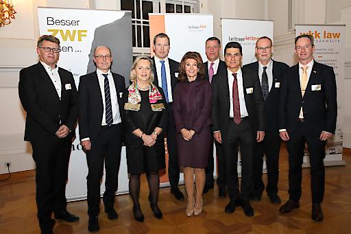 https://www.apa-fotoservice.at/galerie/21883 ZWF Get together. Im Bild v.l.n.r.: LOStA Mag. Johann Fuchs, Leiter der OStA Wien; RA Mag. Mario Schmieder, ZWF-Mitherausgeber; HR Mag. Claudia Moravec-Loidolt, Richterin des LGS Wien; Dr. Michael Rohregger, Vizepräsident der RAK Wien und ZWF-Mitherausgeber; Dr. Brigitte Bierlein, Bundeskanzlerin a.D.; SC Mag. Christian Pilnacek, BMVRDJ; Hon.-Prof. Dr. Roman Leitner, ZWF-Mitherausgeber; Univ.-Prof. Dr. Klaus Schwaighofer, Universität Innsbruck; Mag. Klaus Kornherr, Geschäftsführer des Linde Verlags.