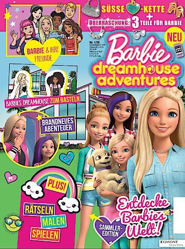 """Cover der ersten Ausgabe """"Barbie dreamhouse adventures"""" 1/20 / Willkommen in der Traumvilla mit dem Barbie dreamhouse adventures-Magazin. Weiterer Text über ots und www.presseportal.de/nr/8146 / Die Verwendung dieses Bildes ist für redaktionelle Zwecke honorarfrei. Veröffentlichung bitte unter Quellenangabe: """"obs/Egmont Ehapa Media GmbH"""""""