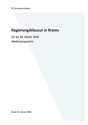 AVISO: Regierungsklausur in Krems