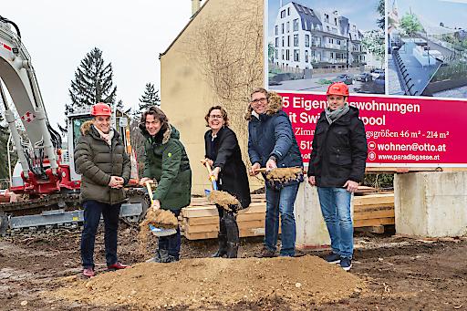 Feierlicher Baubeginn für 15 exklusive nachhaltige Wohnungen in der Paradisgasse 11