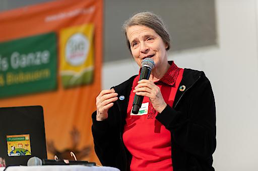 Em.O.Univ.Prof. Dr. Helga Kromp-Kolb bei ihrem Vortrag auf den BIO AUSTRIA-Bauerntagen 2020