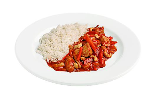 Das Hühnercurry Panang mit Basmatireis wurde von der DLG mit GOLD bewertet.