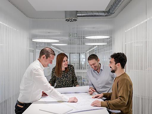 Räumlich für die Integrale Planung mit BIM optimiert: die 2019 bezogenen Open Office Spaces von ATP Zürich.