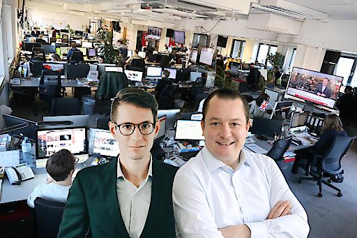 (v.l.n.r) Chefredakteur von Heute.at Clemens Oistric und stv. Chefredakteur Peter Frick